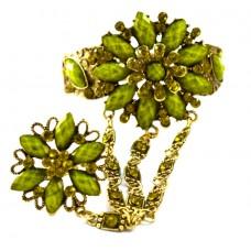Слейв-браслет «Салатовый цветок»