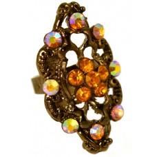 Кольцо «Желтый многогранник»