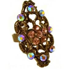 Кольцо «Сиреневый многогранник»
