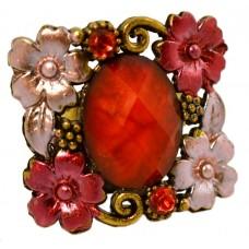 Кольцо «Красные цветы»