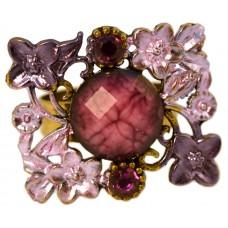 Кольцо «Фиолетовые цветы»