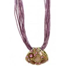 Колье «Фиолетовый букет»