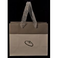Пакет подарочный бумажный «Серебряное кольцо»