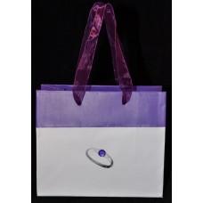 Пакет подарочный бумажный «Фиолетовое кольцо»