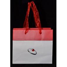 Пакет подарочный бумажный «Красное кольцо»