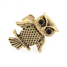 Безразмерное винтажное ретро-кольцо «Сова»
