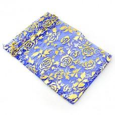 Мешочек подарочный марлевый «Синие цветы»