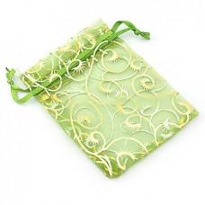 Мешочек подарочный марлевый «Зеленые цветы»