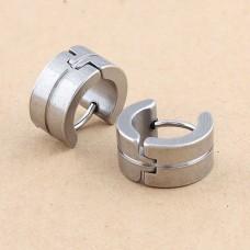 Серьги из стали «Кольца»