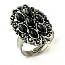 Безразмерное винтажное кольцо «Семь граней»