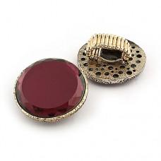 Кольцо с крупным камнем «Фиолетовое зеркало»