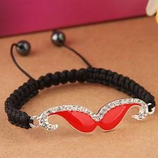Красно-черный браслет «Усы»