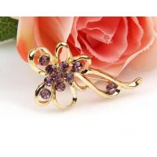 Брошь «Фиолетовый цветок»