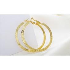Круглые серьги-кольца «под золото» «Круг»
