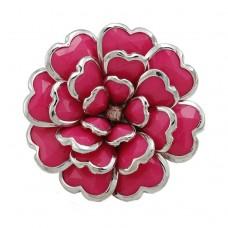 Безразмерное кольцо в виде цветка «Розовое»