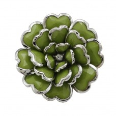 Безразмерное кольцо в виде цветка «Зелёное»