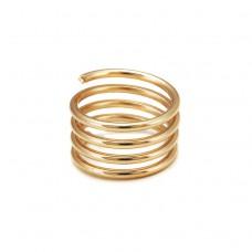 Миниатюрное кольцо «Золотая спираль»