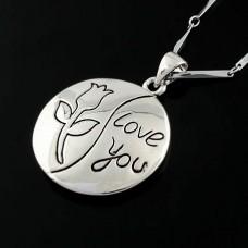 Цепочка с подвеской «Love you»
